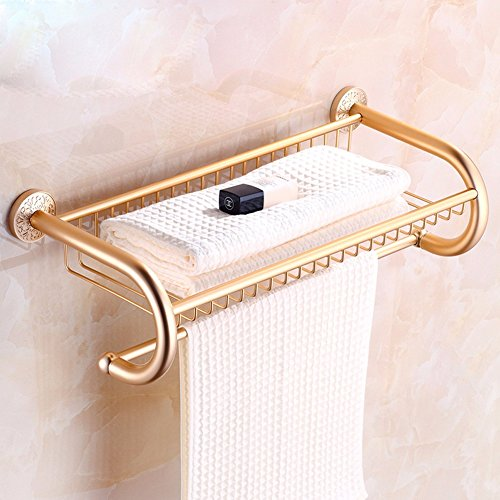 KHSKX Golden aluminum bathroom hardware accessories set in space-style Towel rack Towel rack antique racks best