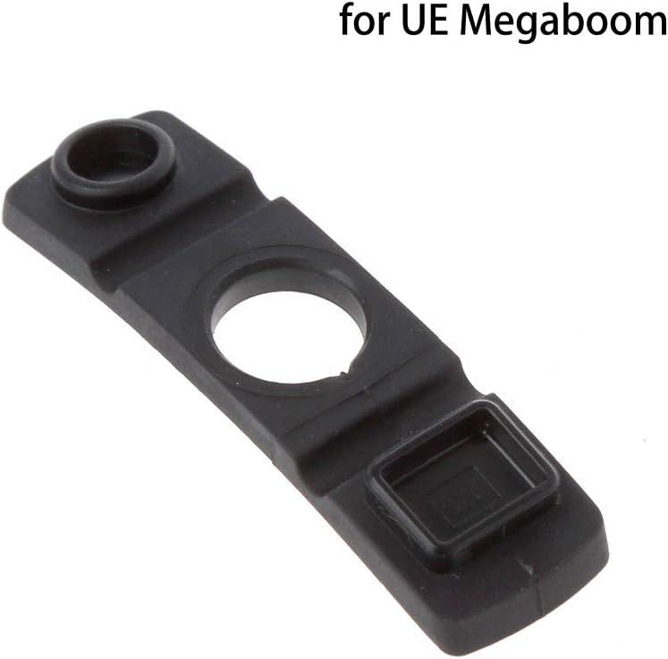 CUCUDAI Replace Rubber Plug Cover for Logitech UE Megaboom Speaker Charge Port Waterproof Black Rubber Plug Cover