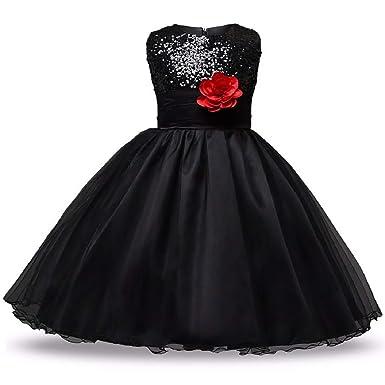 c45b9c8a850 Revenge Fashion Wings Girl s Princess Birthday Satin Sparkle Net Fabric  Fluffy Ball Gown Fancy Dress Black