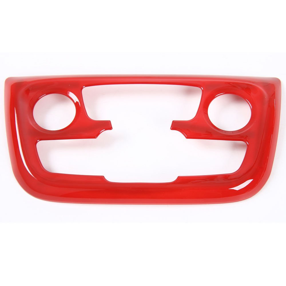 Yutner - For Jeep Compass AT 2017+ Air Condition Button Switch Knob Control Panel Cover Trim Interior Decor Frame Car Styling Accessories [Red]   B07F73W1L9