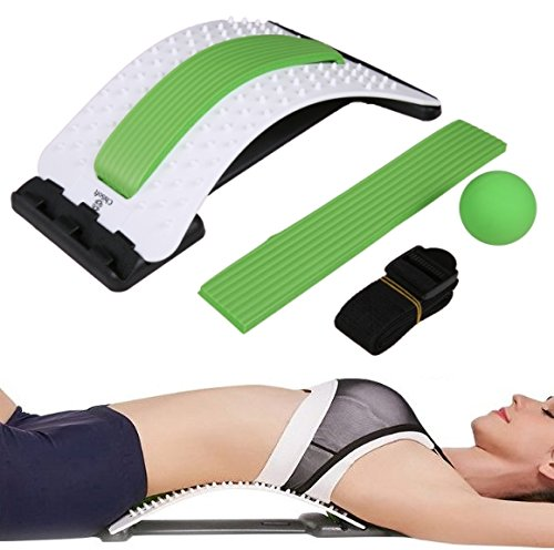 Best Arched Back Stretcher As Seen Doctors TV - CHISOFT Lumbar Stretching Device | Improve Posture | Get Muscle Tension, Back Pain Relief Here (One Computer All In Table)