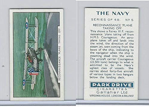 G12-91A Gallaher Cigarettes Card, The Navy, 1937, 5 Recon Plane ()