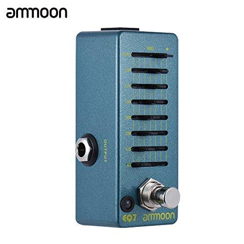 ammoon EQ7 Mini Guitar Equalizer Effect Pedal 7-Band EQ Aluminum Alloy Body True Bypass by ammoon