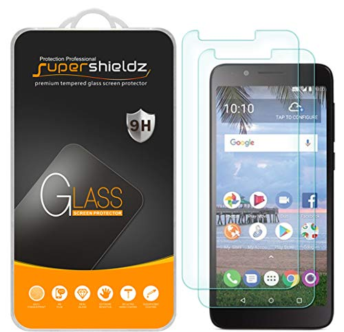 [2-Pack] Supershieldz for TCL LX (A502DL) Tempered Glass Screen Protector, Anti-Scratch, Bubble Free, Lifetime Replacement Warranty from Supershieldz