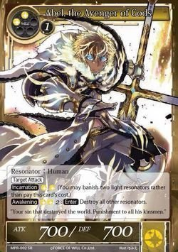 Abel, the Avenger of Gods MPR-002 SR The Moon Priestess Returns