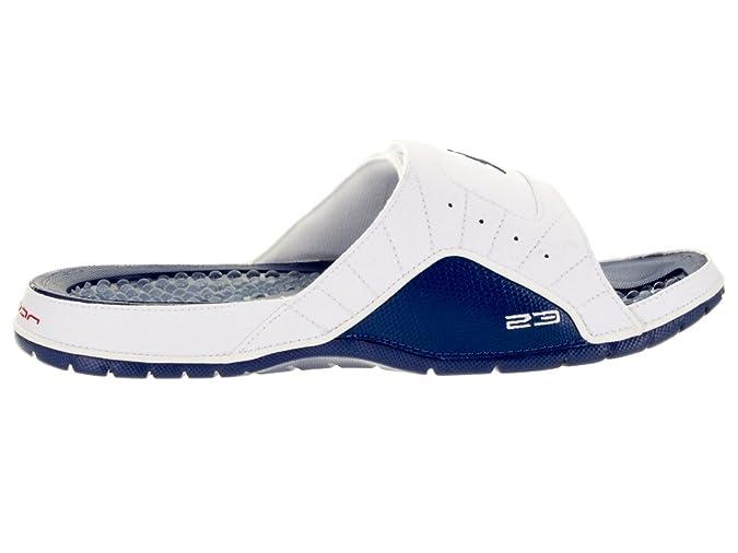 huge discount 79f17 9c366 Amazon.com   Jordan Nike Men s Hydro XII Retro White French Blue 820265-107    Sandals