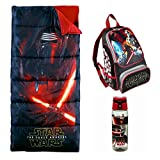 sleeping bag - Star Wars The Force Awakens Sleeping Bag, Backpack & Kylo Ren Water Bottle (3 Piece Kylo)