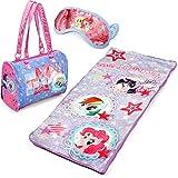 My Little Pony 3-Piece Kids Pink Sleepover Set with Sleeping Bag and Bonus Eye Mask Made of Polyester