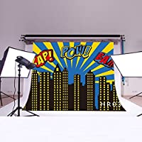 LB 7x5ft Super City Vinyl Photography Backdrop Customized Photo Background Studio Prop HR03