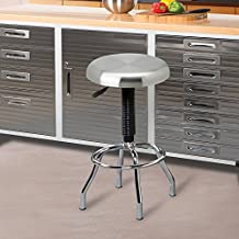 Seville Classics Stainless Steel Pneumatic Work Stool