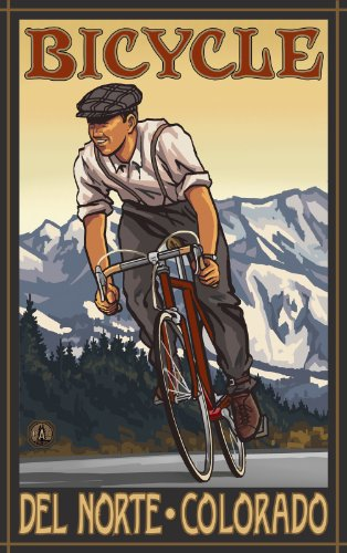 Northwest Art Mall Bicycle Del Norte Colorado DBM Wall Art by Paul A. Lanquist, 11-Inch by - Del Mall Norte