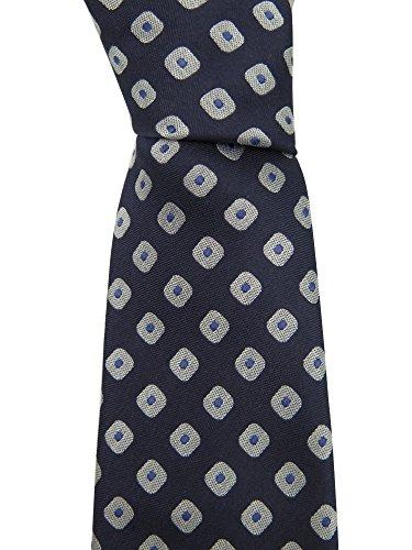 canali-blue-silver-geometric-print-neck-tie