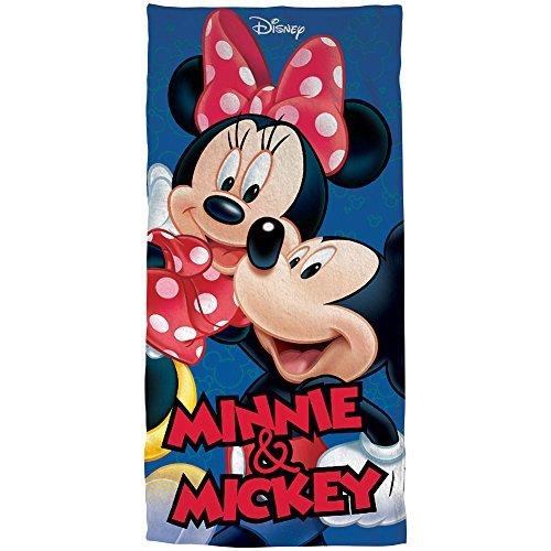 Walt Disney Mickey & Minnie Mouse Hug 58'' X 28'' Cotton Beach Pool Gym Towel by Jerry Leigh