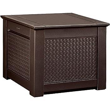 Amazon Com Rubbermaid Patio Chic Outdoor Storage Deck
