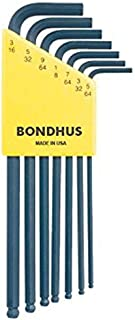 product image for Bondhus 10945 Set of 7 Balldriver L-wrenches, sizes 5/64-3/16""