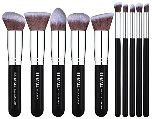 BS-MALL(TM) Makeup Brushes Premium Makeup Brush Set Synthetic Kabuki Makeup Brush Set Cosmetics Foundation Blending Blush Eyeliner Face Powder Lip...