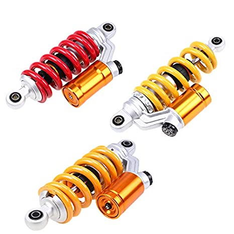 JzzqC Motorcycle Air Suspension Shock Absorber Yellow Red 240Mm 260Mm
