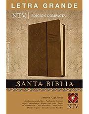 Santa Biblia NTV, Edición compacta letra grande (Letra Roja, SentiPiel, Café rústico)