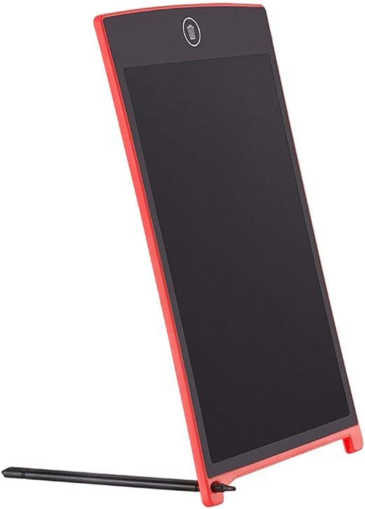 8.5インチポータブル電子ライティングパッドLCD手書きボードキッズアダルトドローイングタブレットワードパッド(ホームオフィス用)-レッド