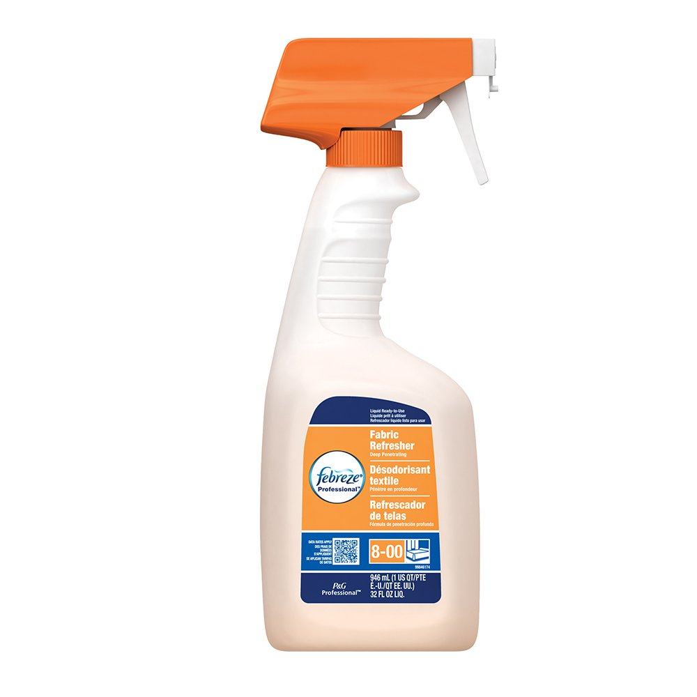 Febreze Professional Fabric Refresher Spray Deep Penetrating, Fresh Clean Scent, 32 oz. (Case of 8)