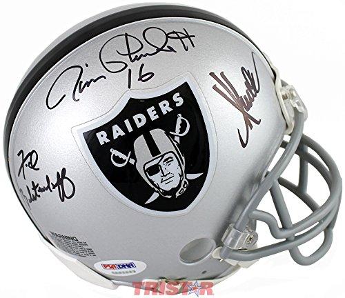 Oakland Raiders Super Bowl Mvps Signed Autographed Replica Mini Helmet Psa Dna Coa