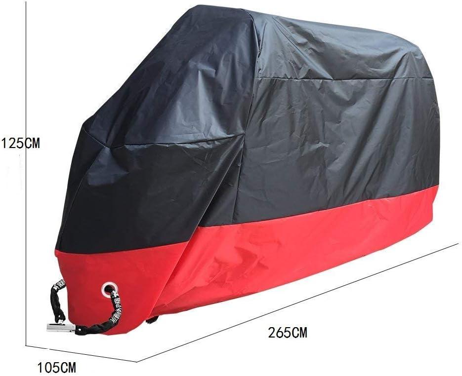 Housse de Moto /étanche avec Trous de Fixation UV KOBWA Housse de Moto Premium Neige Gel Anti-poussi/ère Tr/ès Grand Fit Brouillard pour Toutes Les Motos Pluie