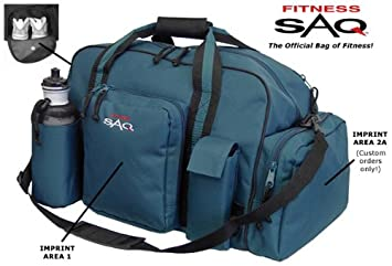 551ed9a2734c Image Unavailable. Image not available for. Colour  FITNESS SAQ fitness gym  bag with Shoe Compartment