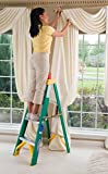 Stepping Stool Ladder, 3-Step With Tray, Heavy Duty Work, Fiberglass Material, Folding Stable And Safe Lightweight Convenient Storage And Transport, Durable And Sturdy, Indoors And Outdoors & E-Book.