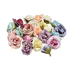 Memoirs- 10Pcs/Lot New Artificial Flowers Silk Rose Flower Heads for Home Wedding Party Decoration DIY Handmade Wreath Scrapbooking Gifts 115