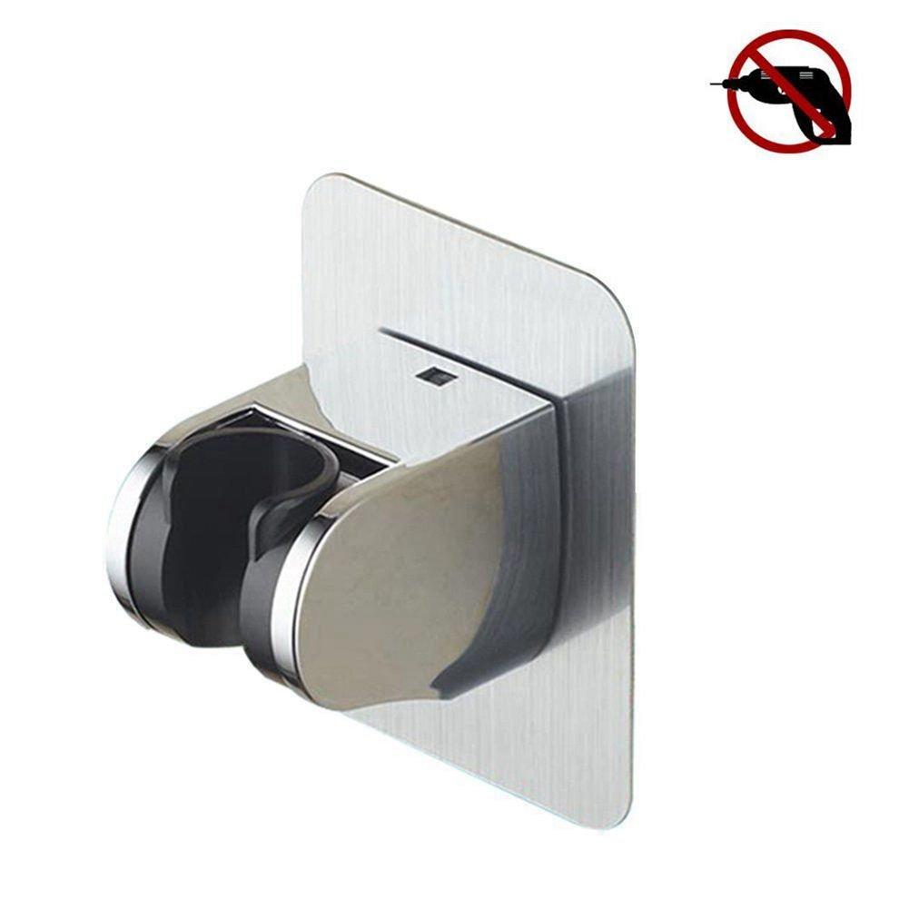 TP Mall, supporto doccetta autoadesivi palmare ricambio regolabile per soffione doccia in acciaio inossidabile impermeabile, supporto a parete