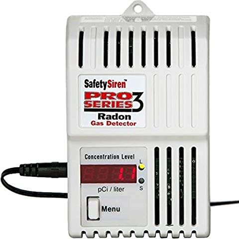 Safety Siren Pro Series3 Radon Gas Detector - HS71512 by Family Safety Products, Inc. - Electronics Products