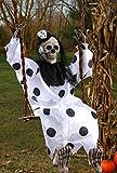 Swinging Dead Clown Hanging Prop