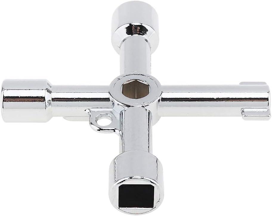 kuou 4 Way Utilities Keys Multi-Functional Meter Keys Zinc Alloy Electric Ca...
