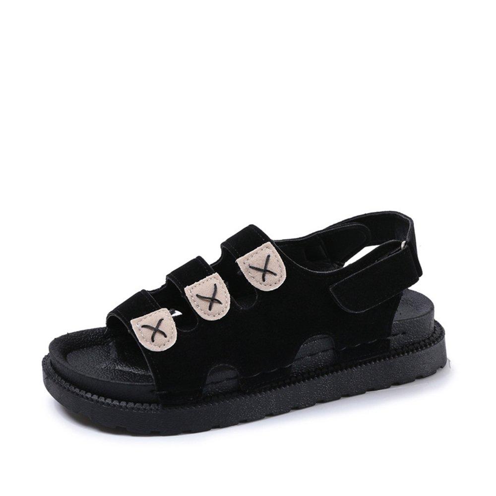 PRETTYHOMEL Women Sandals Flat Sandals Wedges Heel Summer Women Open Toe Platform Sandalias Ladies Sandals B07CYWX8B4 35/4.5 B(M) US Women Black