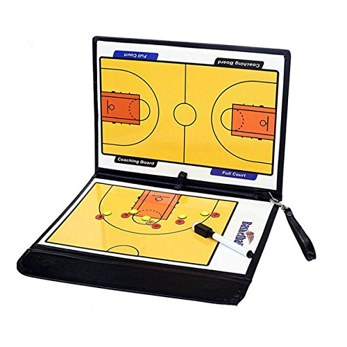 HITSAN Folding Magnetic Piece Basketball Coach Board Tactical Plate Tactics Book Set with Pen Teaching Clip One Piece HITSAN INCORPORATION