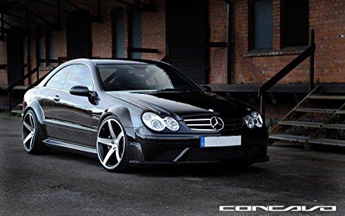 - Quality Prints - Laminated 26x16 Vibrant Durable Photo Poster - Mercedes Benz CLK63 AMG Black Series