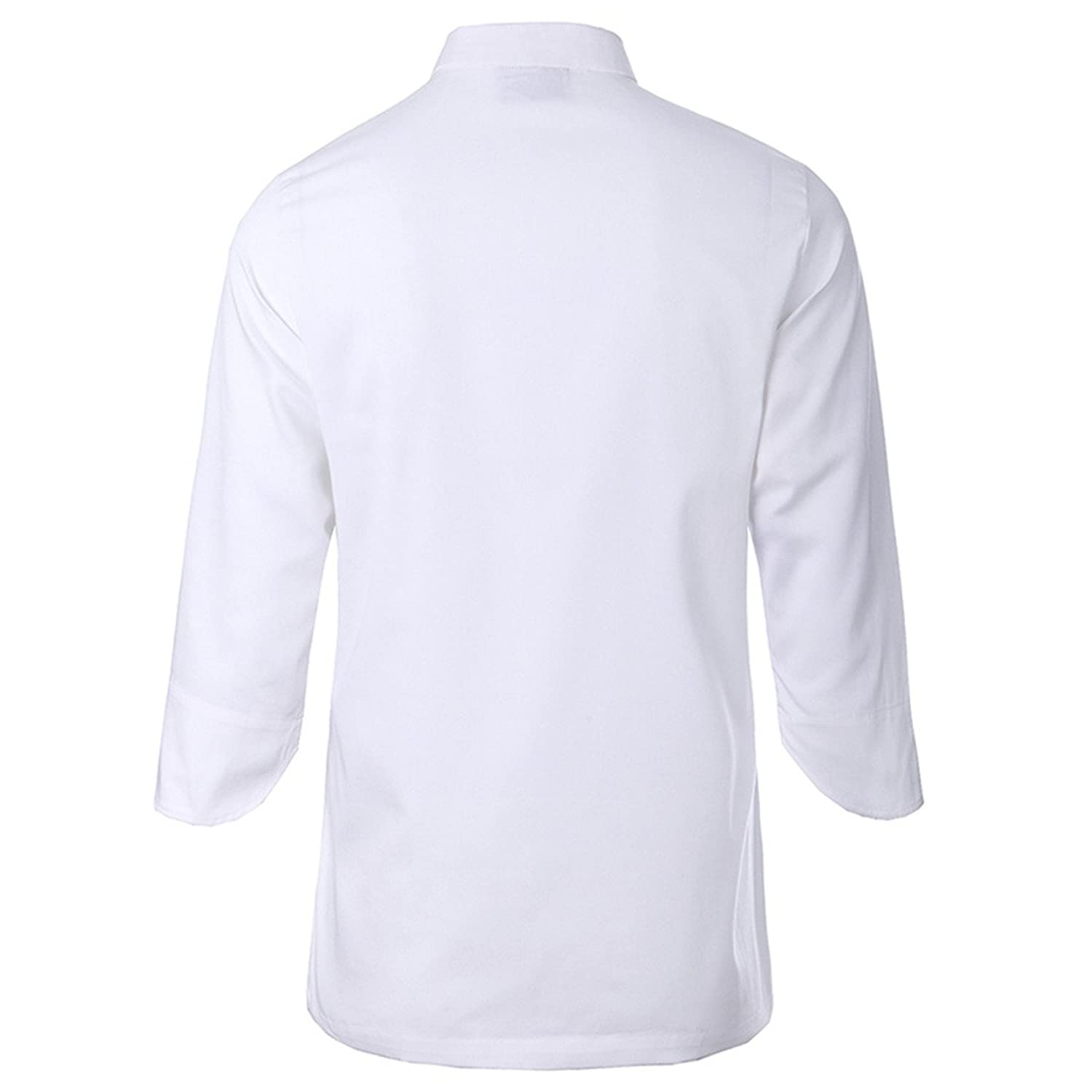 Amazon.com: ChefsUniforms White chef uniforms unisex long and ...