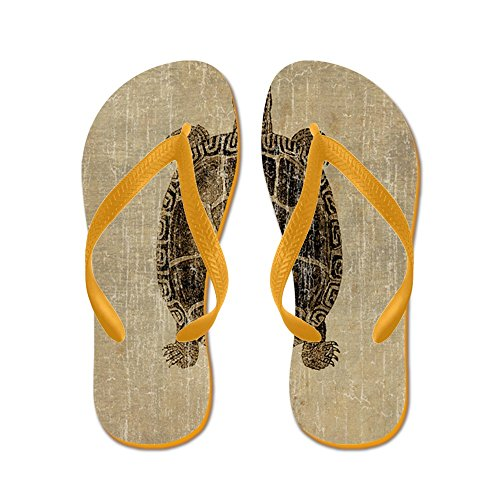 Vintage Turtle - Flip Flops Funny Thong Sandals Beach Sandals