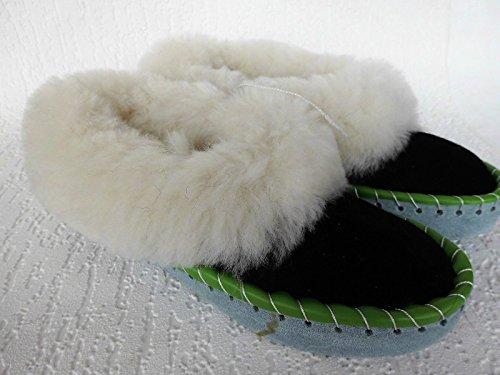 LAMMFELL Warme HAUSSCHUHE Gr.36 NEU, Schaffell/-leder (Made in Poland 414-34/15)