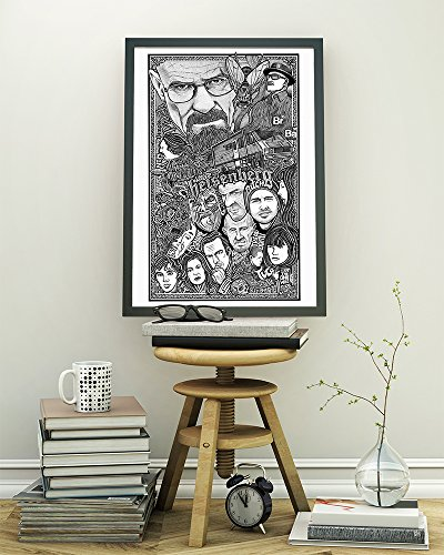 (Breaking Bad Poster - Inspired Letterpress Art Print Poster -Detailed Pen and Ink Original Hand Drawing 11