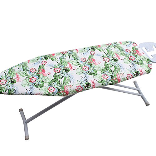 iiSPORT 19'' x 54'' Flamingo Ironing Board Cover with Heat-Reflective 2-Layers Cotton Pad for Scorch & Staining Resistant - Green by iiSPORT