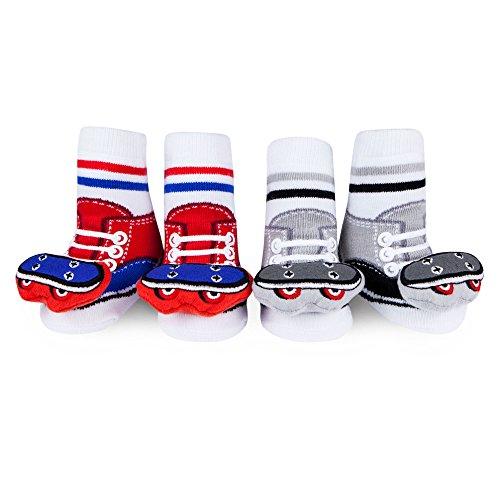 Waddle Rattle Socks Baby Socks For Boys Skateboard Rattle 0-12 Mth Newborn Gift Infant Newborn Skateboards