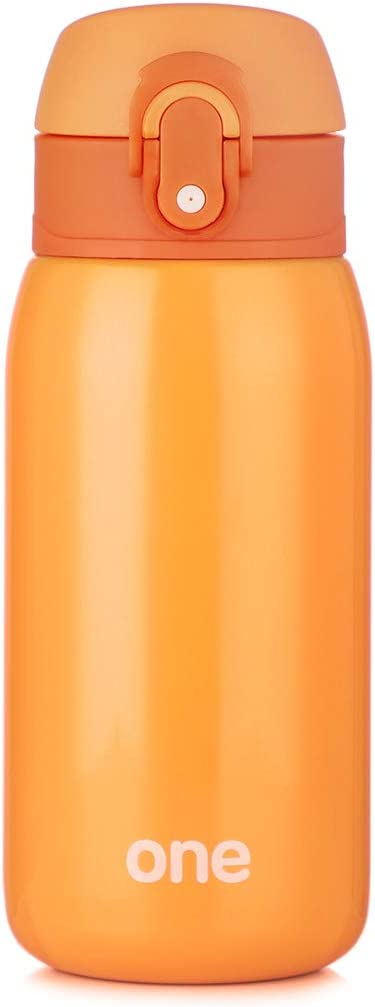 Sprouts Kids Water Bottle - 11Oz, Insulated Stainless Steel Bottle, Leakproof, Perfect for Kids Lunch Bag (Orange)