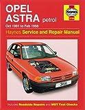 Opel Astra Petrol (Oct 91 - Feb 98)