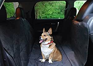 Quadrant 2 Dog Seat Cover by Durable, Waterproof, Luxury Seat Protection that is Machine Washable with Non-Slip Backing, Black hammock style Car Seat Cover For Pets