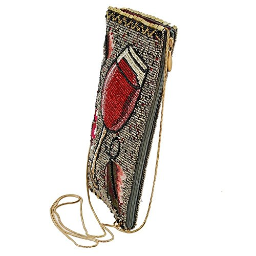 Crossbody Embroidered Mary Beaded Frances Glass Multi Bag Wine Vino Phone rwPPTqt4Y