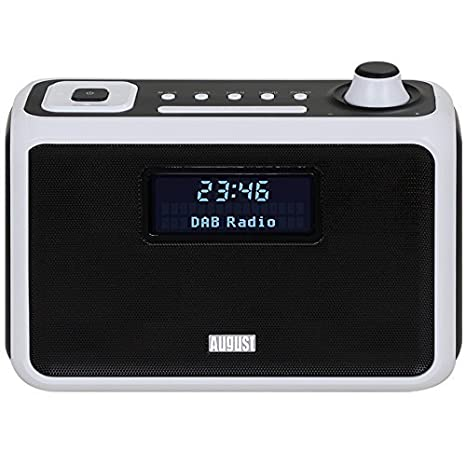 August MB400 – Radio DAB/DAB+ con Altavoz Bluetooth NFC, Alarma y Radio FM – Radio portátil con reproductor MP3 – Puerto USB / Lector de tarjetas SD y ...
