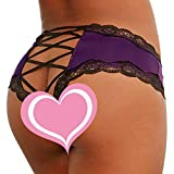 Kaitobe Sexy Lingerie for Women for Sex Ladies Lingerie Lace Strappy Cross G-String Bandage Briefs Underwear Thong Purple