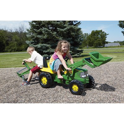 - Rolly John Deere Backhoe Loader Ride On