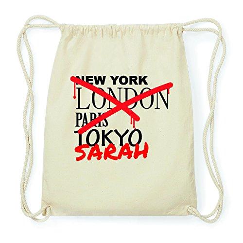 JOllify SARAH Hipster Turnbeutel Tasche Rucksack aus Baumwolle - Farbe: natur Design: Grafitti